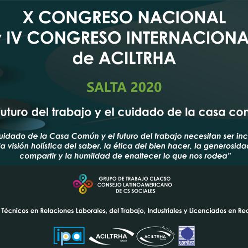 X Congreso Nacional y IV Congreso Internacional de ACILTRHA 2020