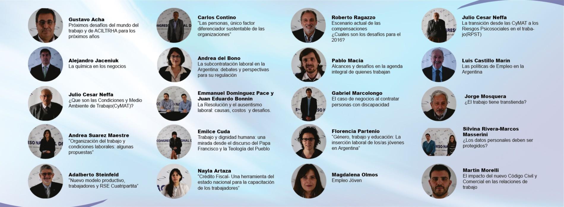 5to CONGRESO NACIONAL DE ACILTRHA «Desafíos socio-laborales: escenarios para el próximo quinquenio 2016-2020» | 2015